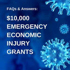 Applying for the $10,000 Emergency Economic Injury Grant