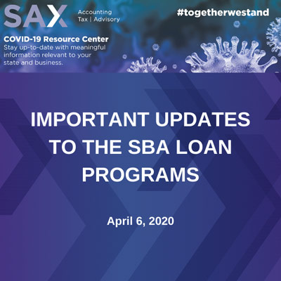 Updates to the SBA Loan Programs