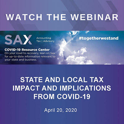 State and Local Tax Impact